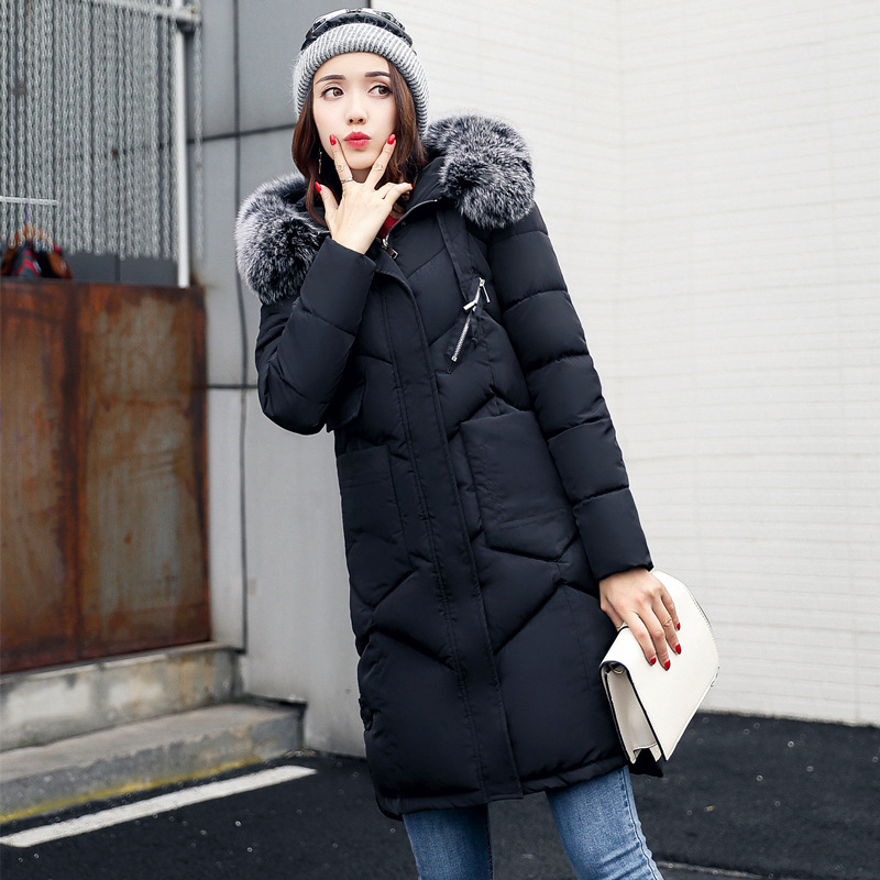 Plus Size Winter Jacket for Pregnant Women Coat Fur Collar Hooded Warm Female Long Jacket Laidy Thick Parka Maternity Outwear maternity winter coat pregnant women pregnant women cotton black coat large size coat tide tan collar thick long hooded jacket