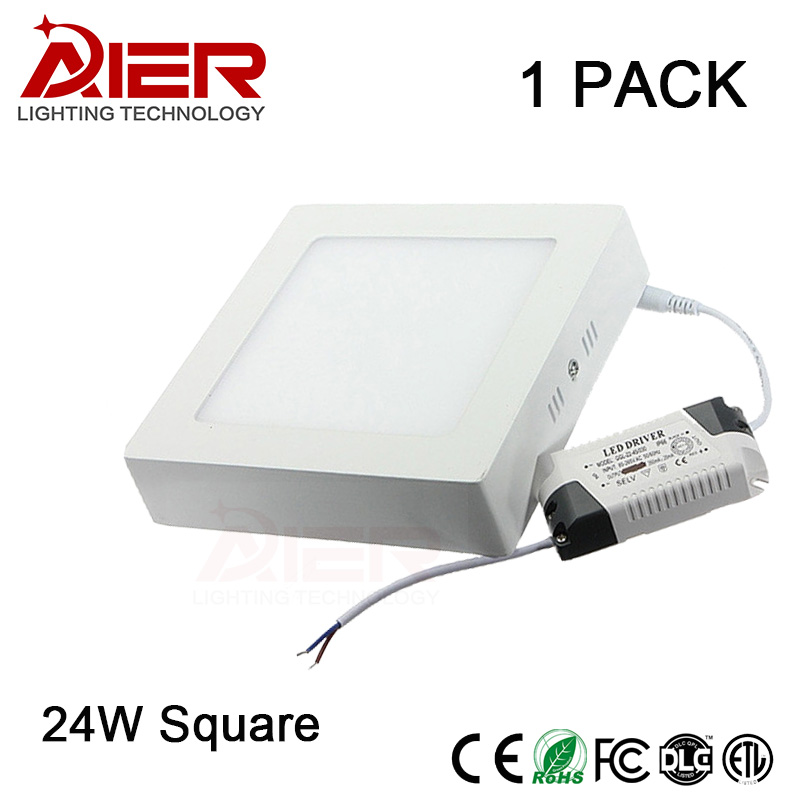 Фото Best 24w Surface mounted led panel light downlight square Ultra thin no cut ceiling Down lamp For Home Indoor Lighting