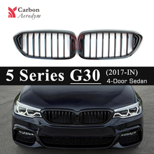 1 Slat Gloss Black Racing Grill For BMW 5 Series G30 G31 F90