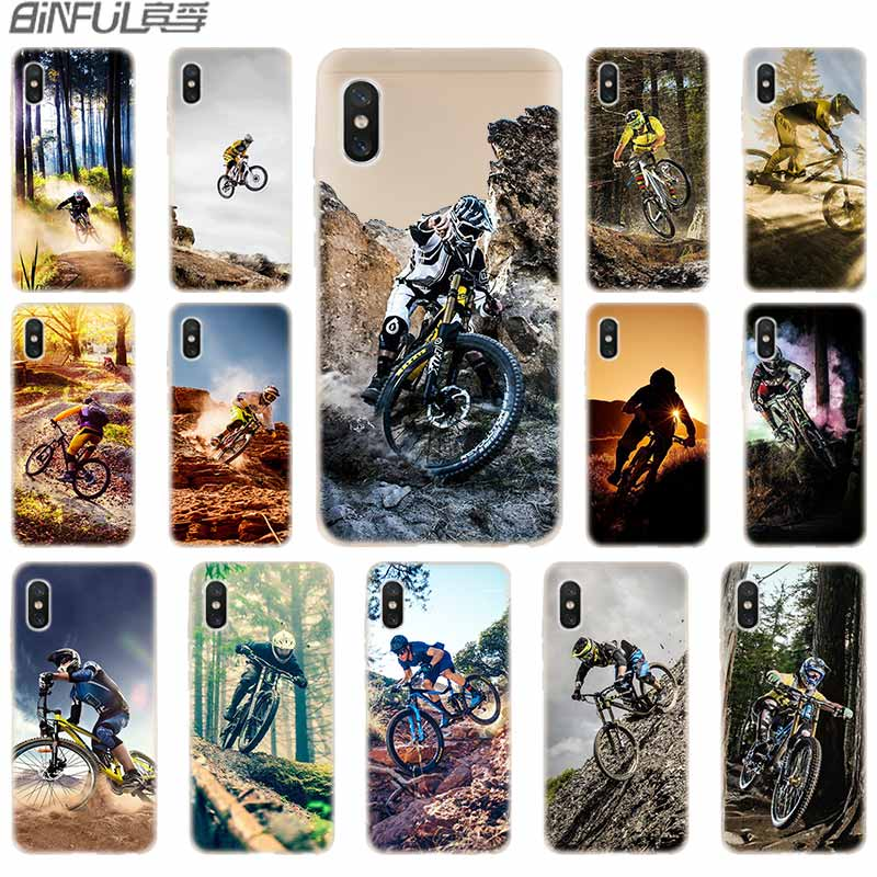 soft Silicone TPU Case For <font><b>Xiaomi</b></font> Mi 8 A2 A3 Lite 9 5X 6X F1 Mix 2s Max 3 Redmi Note7 pro <font><b>Amazing</b></font> mountain bike Bicycle MTB image