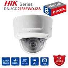 Hik оригинальный переменным фокусным расстоянием 2,8-12 мм Купол IP Камера DS-2CD2785FWD-IZS 8-мегапиксельная видеонаблюдения Видеокамера POE CCTV H.265 ИК 30 м