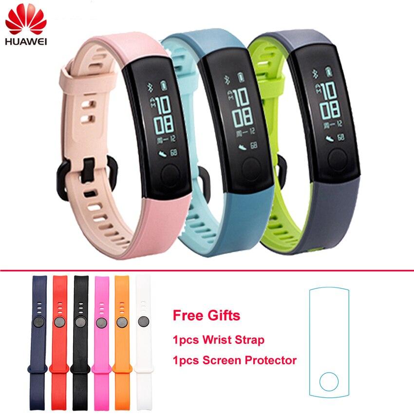 Original Huawei Honor Band 3 Smart Wristband Bluetooth OLED Heart Rate Monitor 5ATM Waterproof Swim Fitness Sleep Tracker original huawei band 2 pro b29 b19 smart wristband for monitor fitness 50m swim waterproof bluetooth oled sport band