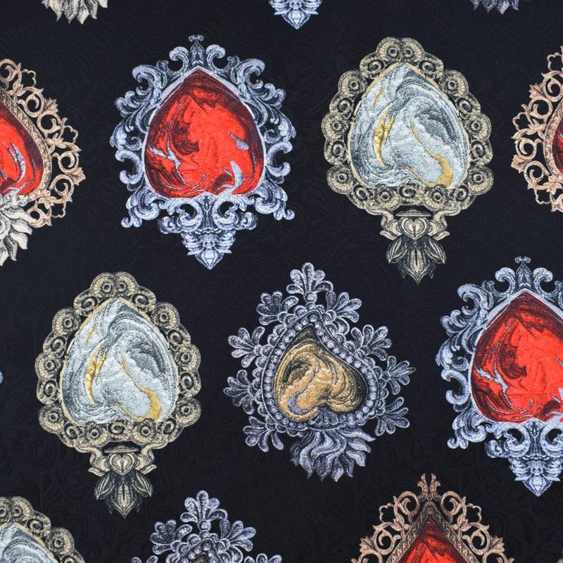 A gema tela do jacquard da pintura digital para o casaco do vestido tissu au metros telas por metros tecida tela de bazin riche getzner tissu