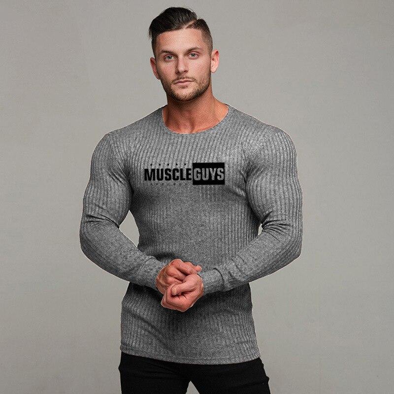 Männer mode t hemd 2019 NEUE Frühling sommer Dünne hemden männlichen Tops Freizeit Bodybuilding Langarm persönlichkeit tees kleidung
