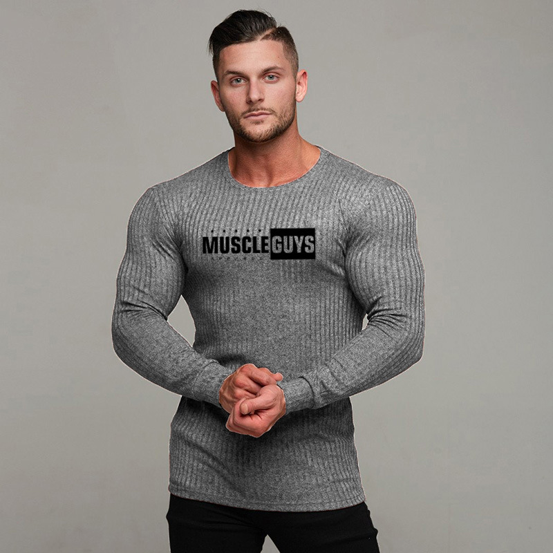 Men fashion t shirt 2019 NEW Spring summer Slim shirts male Tops Leisure Bodybuilding Long Sleeve personality tees clothing