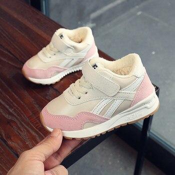 1e04df1d5 Брендовая обувь для мальчика для 1 года, черные спортивные кроссовки,  теплые Нескользящие Tenis Infantil, розовая повседневная детская обувь для  д.