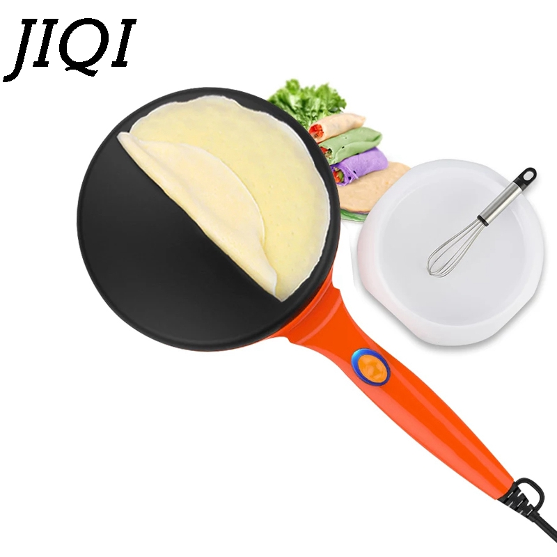JIQI Electric Crepe Maker Pizza Baking Pan Machine Pancake Pie Cooker Cake Griddle Cooking Spring Roll Grill 220/110V EU US plug jiqi stainless steel electric crepe maker plate grill crepe grill machine page 8