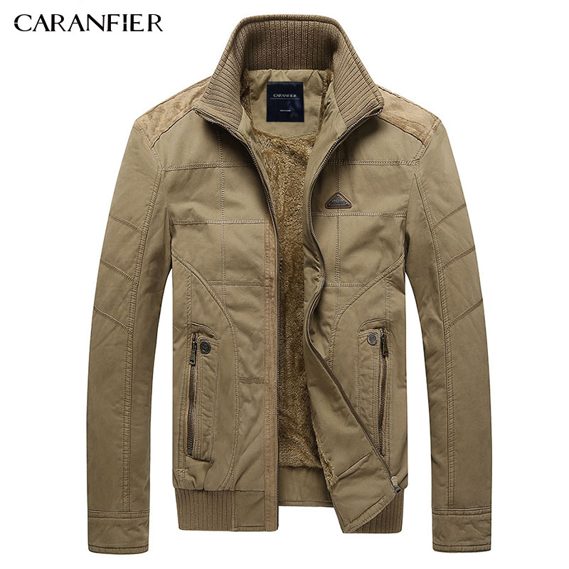 CARANFIER 2017 Зима Для мужчин куртка Высокое качество флис Повседневное Военный Тактические мужские пальто Бизнес Мода ветрозащитный M ~ 3XL
