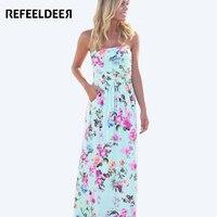 Summer Maxi Dress 2016 Casual Strapless Floor Length Dress Long Women Tunic Kleider Beach Sundress Robe