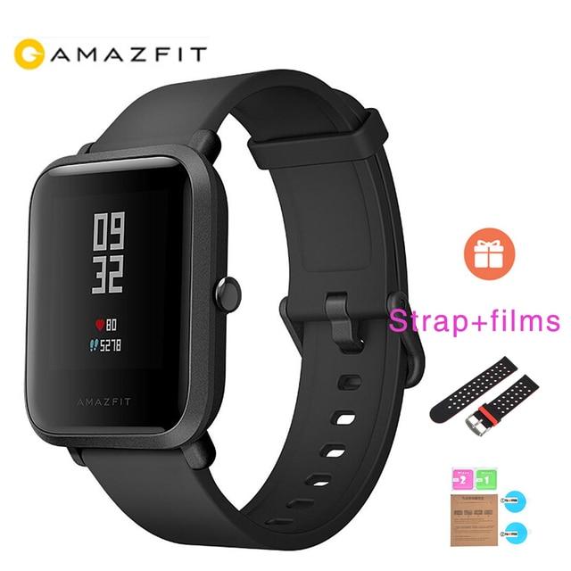 1 Year Warranty Global Version XIAOMI Huami Amazfit Bip Smart Watches GPS Smartwatch IP68 HR 45 Days Standby for MI8 IOS
