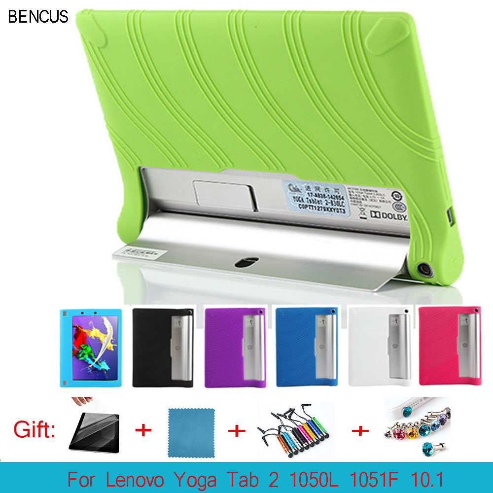 BENCUS Soft Silicon Back TPU Cover for Tablet Lenovo Yoga Tab 2 1050 1050F 1050L 1051F 1051 10.1 Silica Gel Protective Case