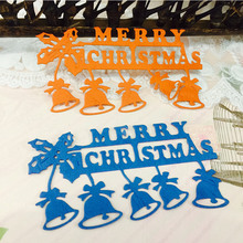 Merry Christmas Bell Metal Cutting Dies for Scrapbooking DIY Album Embossing Folder Paper Card Maker Template Decor Stencils merry christmas trees sticker painting stencils for diy scrapbooking stamps home decor paper card template decoration album