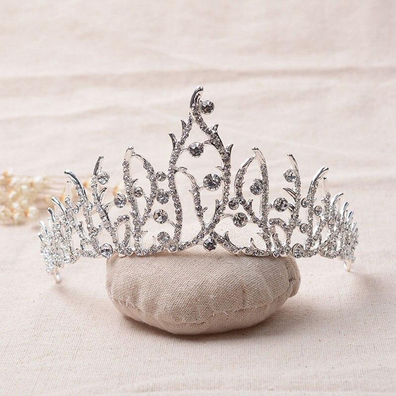 HG250 Luxury Bridal Crystal Tiara Crowns Princess Queen Pageant Prom Rhinestone Veil Tiara Headband Wedding Hair Accessory