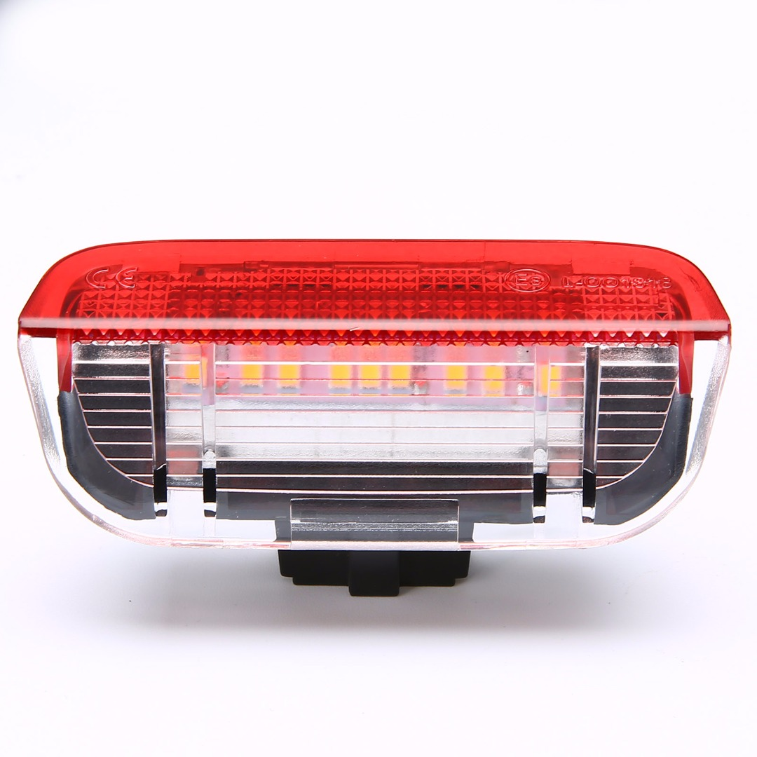 2Pcs Car LED Side Door Light Courtesy Lamp For VW Golf Jetta Passat B6 B7 GTI MK5 MK6 Tiguan Touareg CC Sharan Red + White Light