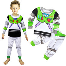 2016 Kids Wholesale Autumn Cartoon Toy Story Mania Suits Kids Pajamas Girls Suits Sweatshirt +trousers Casual Clothing Sets