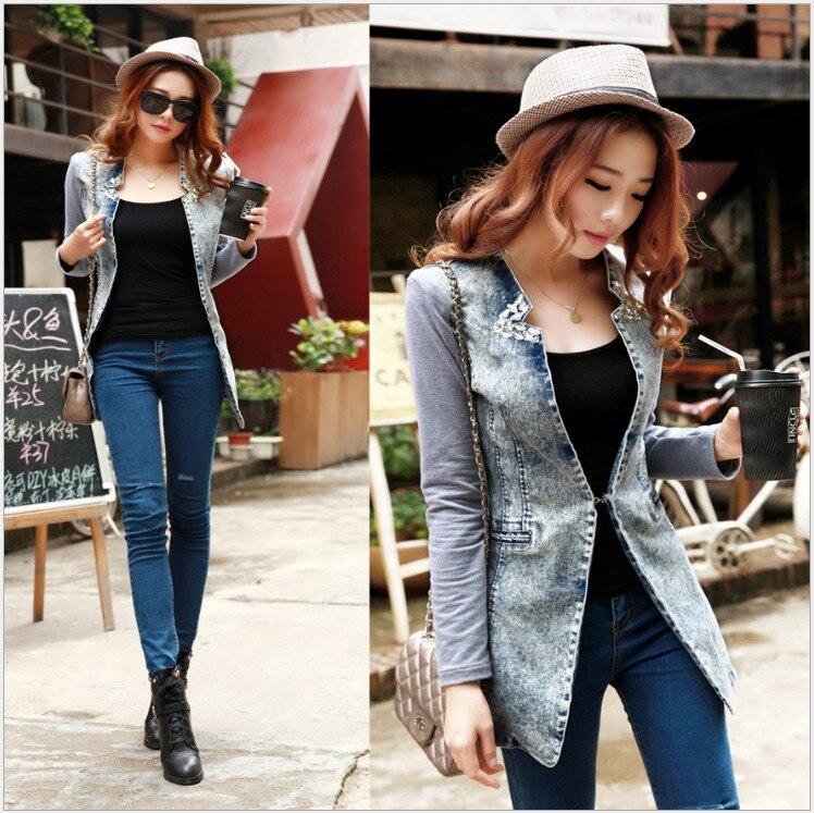 Blazer de jeans mujer