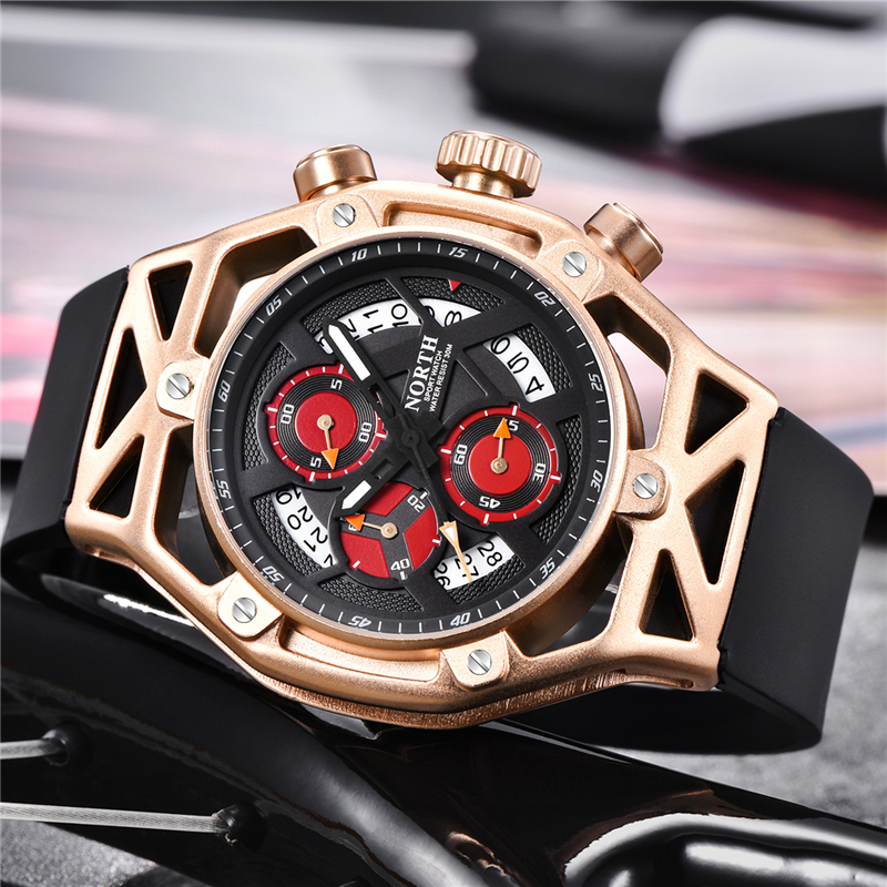 NORTH Mens Watches Top Brand Luxury Chronograph Quartz Watch Men Analog Date  Casual Military Sport Wrist Watch Relogio Masculino-in Quartz Watches from  ... a68c346d5b