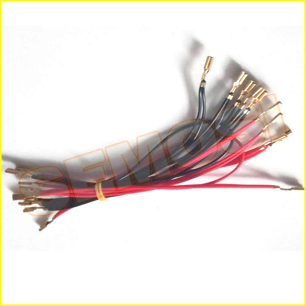 5 v/12 v 조명 전구 케이블 6.3mm, 4.8mm 또는 2.8mm 빠른 2pin 커넥터 아케이드 led 버튼에 대 한 usb 인코더