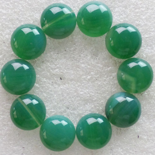 (10 pieces/lot) Wholesale Natural Green Agatte Round CAB CABOCHON 14x6mm Free Shipping Fashion Jewelry C0001590