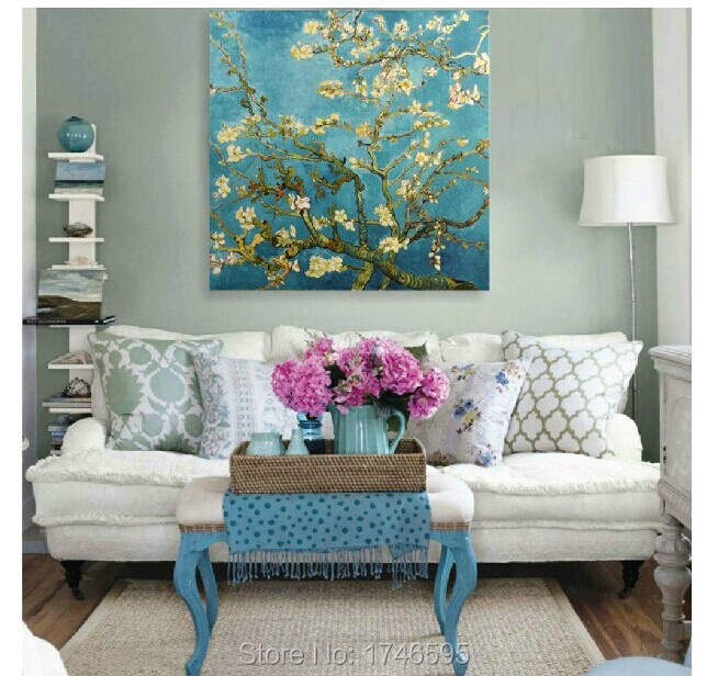[+] Almond Blossoms Canvasin Living Room