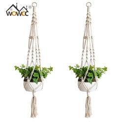 Main macramé plante cintre fleur Pot cintre panier levage corde suspendus Pot titulaire pour décoration murale jardin