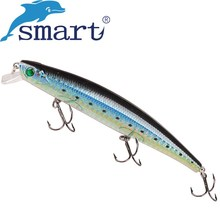 SMART Minnow Bait 118mm 18.2g Floating 0.5m VMC Hook Hard Fishing Lure Isca Artificial Para Pesca Leurre Souple Peche Swimbait