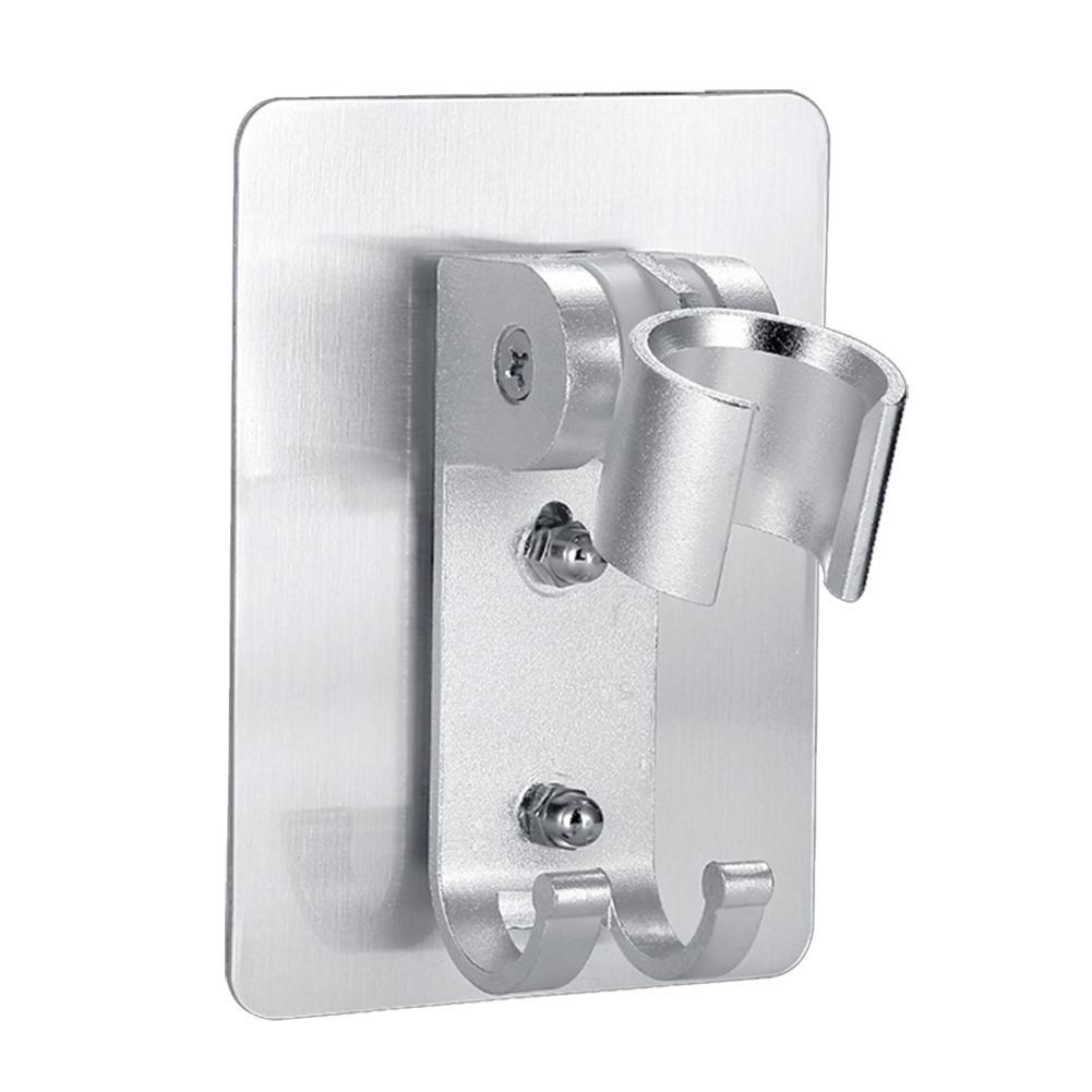 Bathroom Adhesive Adjustable Wall Mount Shower Nozzle Holder Set Bracket No Drilling