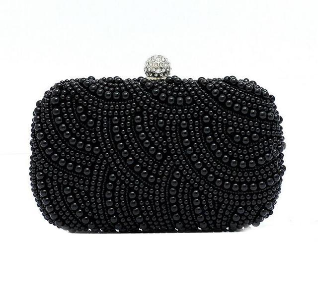 2016 Rushed Women Handbags Women's Pearl diamond evening Clutch Bag Two Ladies Exquisite Sides Beaded Wedding Purse Wallet