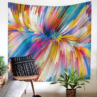 Colourful Vortex Strips Tapestry Wall Hanging Mandala Tapestry Wall Decor Hippie mandalas Blanket psychedelic Tapestries