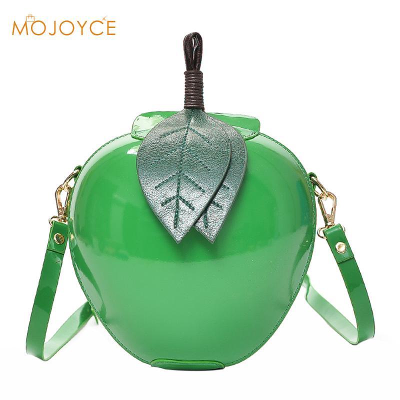 Fashion wanita tas selempang PU kulit Circular Apple bentuk perempuan Mini  Messenger tas 83edeee0be