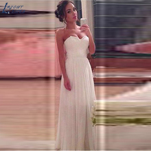 LAYOUT NICEB SHJ354 Beach Wedding Dress A-line Floor Length