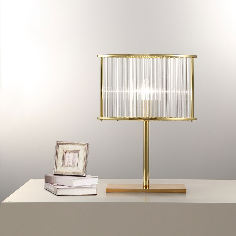 LICAN Nordic post-modern desk lamp bedroom bedside standing table lamp  creative Glass luxury Table lamps iron table lights