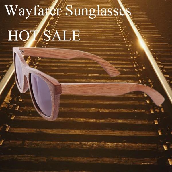 Women's Retro Round Eyeglasses Wood Frame Fashion Bamboo Sunglasses
