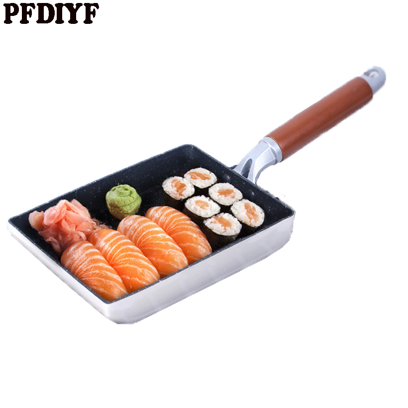 High-quality Frying Pan Omelet Fried eggs Square Pan Aluminum non-stick Omelet Pancake Mini Cooking Fried Frying Grill Induction