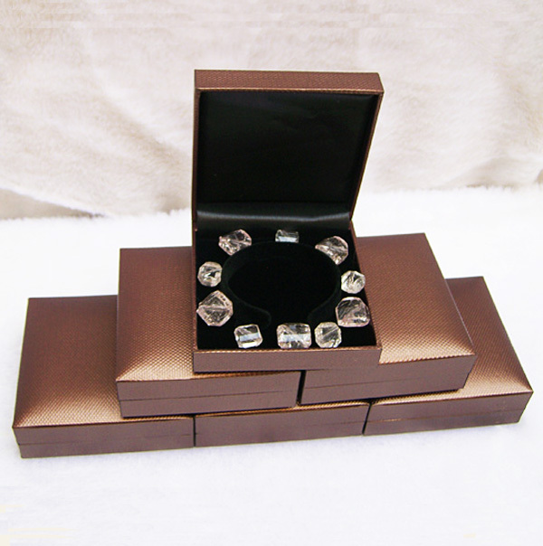Free Shipping 1pc Jewelry Box Bracelet Gift Bo Bangle Anklet Brown Leatherette Grey Storage Case In Packaging Display