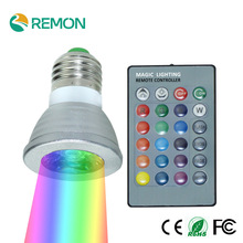 3W GU10/ E27 AC:85-265V MR16 DC:12V RGB16 Color Change LED spotlight Lamp bulb  for Home Party decoration with IR Remote