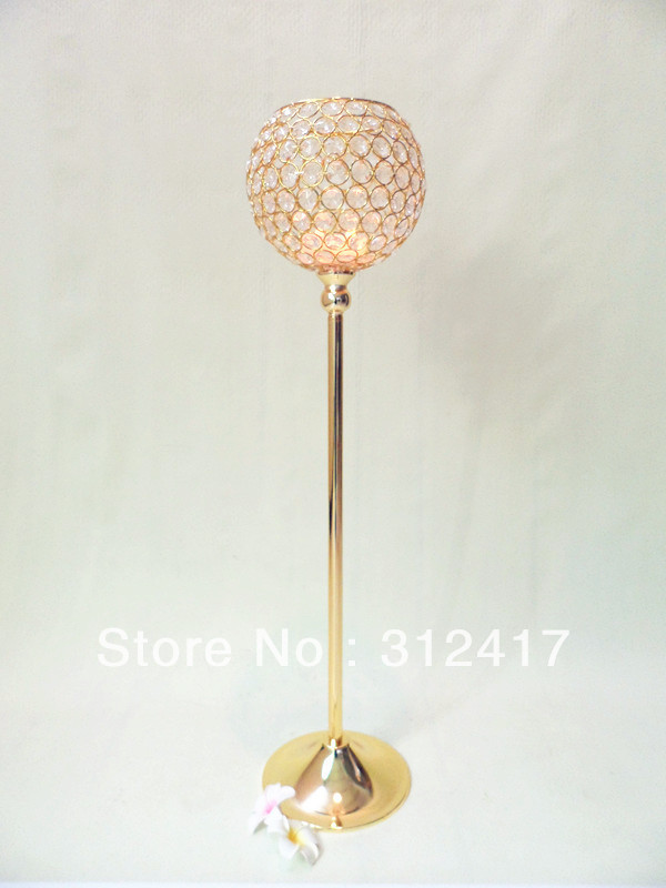 Wholesale gold pillar candle holders wedding centerpieces