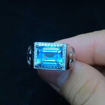 Natural topaz men's ring, 925 silver, exquisite craftsmanship, simple style, beautiful color - DISCOUNT ITEM  25% OFF All Category
