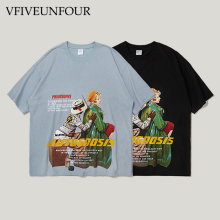 VFIVEUNFOUR New Arrival Hipster Print Tshirts Men Hip Hop Harajuku Casual cotton  Tops Tee 2019 Summer Male Short Sleeve