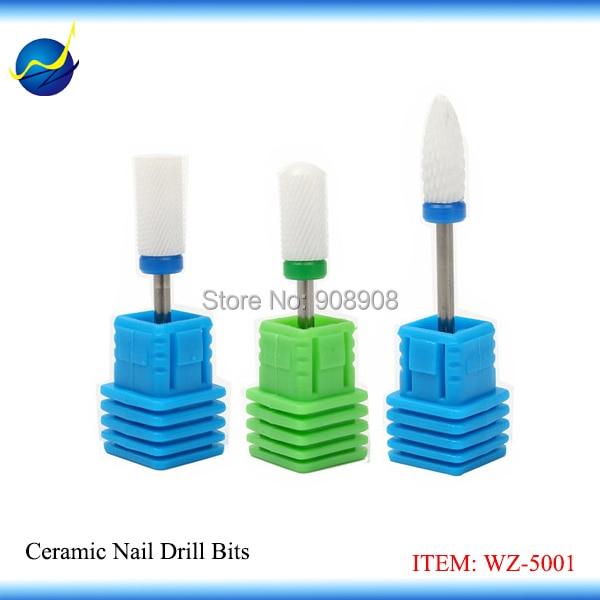 Gratis bezorging 3 stks nieuwe keramische nail boor voor pedicure podotherapie manicure nail art salon voetverzorging nagelriem polijsten hobbing