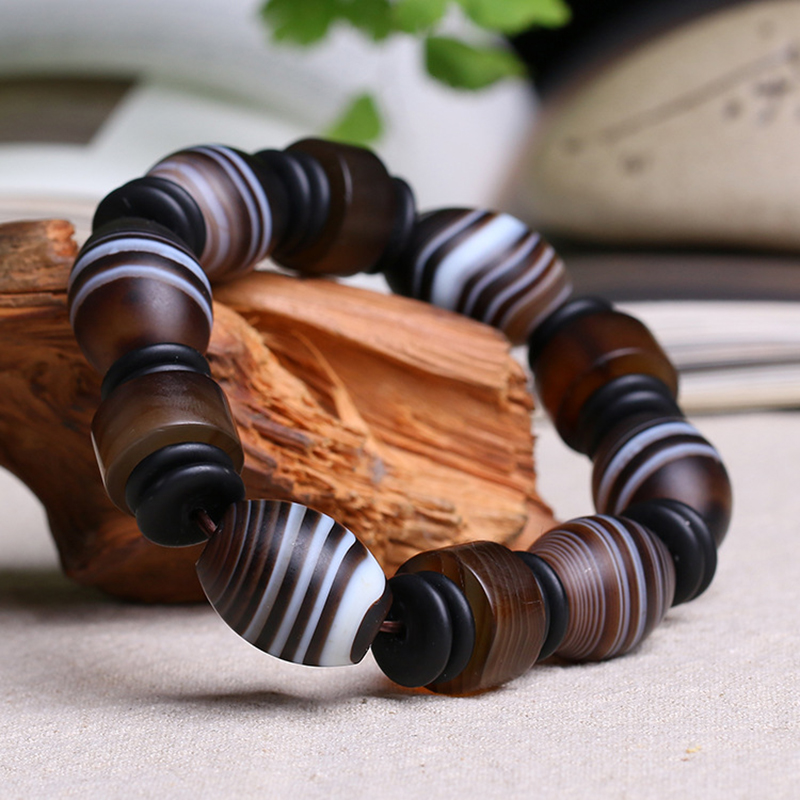 JoursNeige Natural Sardonyx Stone Bracelets Fine Carving for Men Bracelet Lucky Beads Bracelet Jewelry Accessories