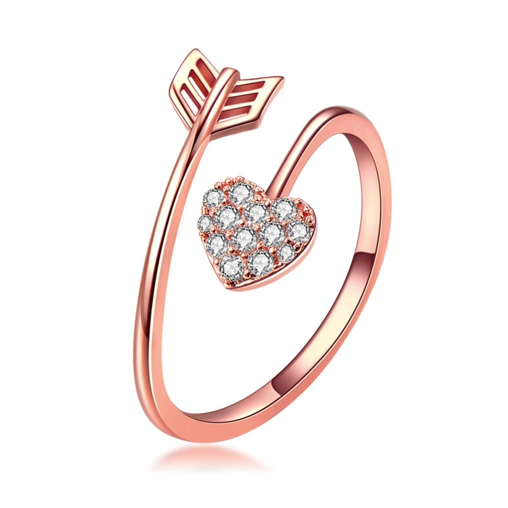 4125d38b3c039 Adjustable Knuckle Arrow Rings Rose Gold For Women Men Teens Girls ...