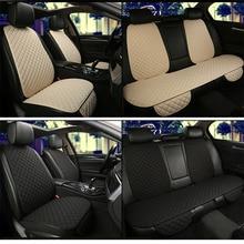 Araba koltuğu kapakları pad koltuk minderi lüks evrensel boyutu kaplamalı yastık ön koltuk minderleri korumak otomobil iç