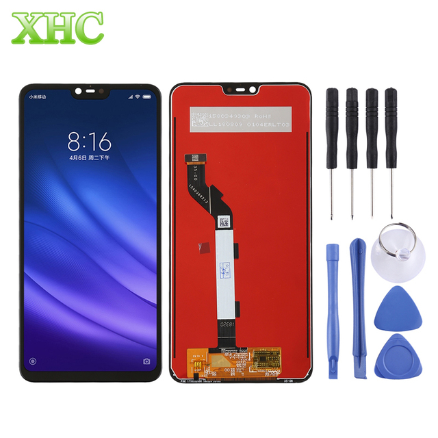 LCD Touch Screen Digitizer Full Assembly for Xiaomi Mi 8 Lite 6.26inch Smartphone Screen Replacement