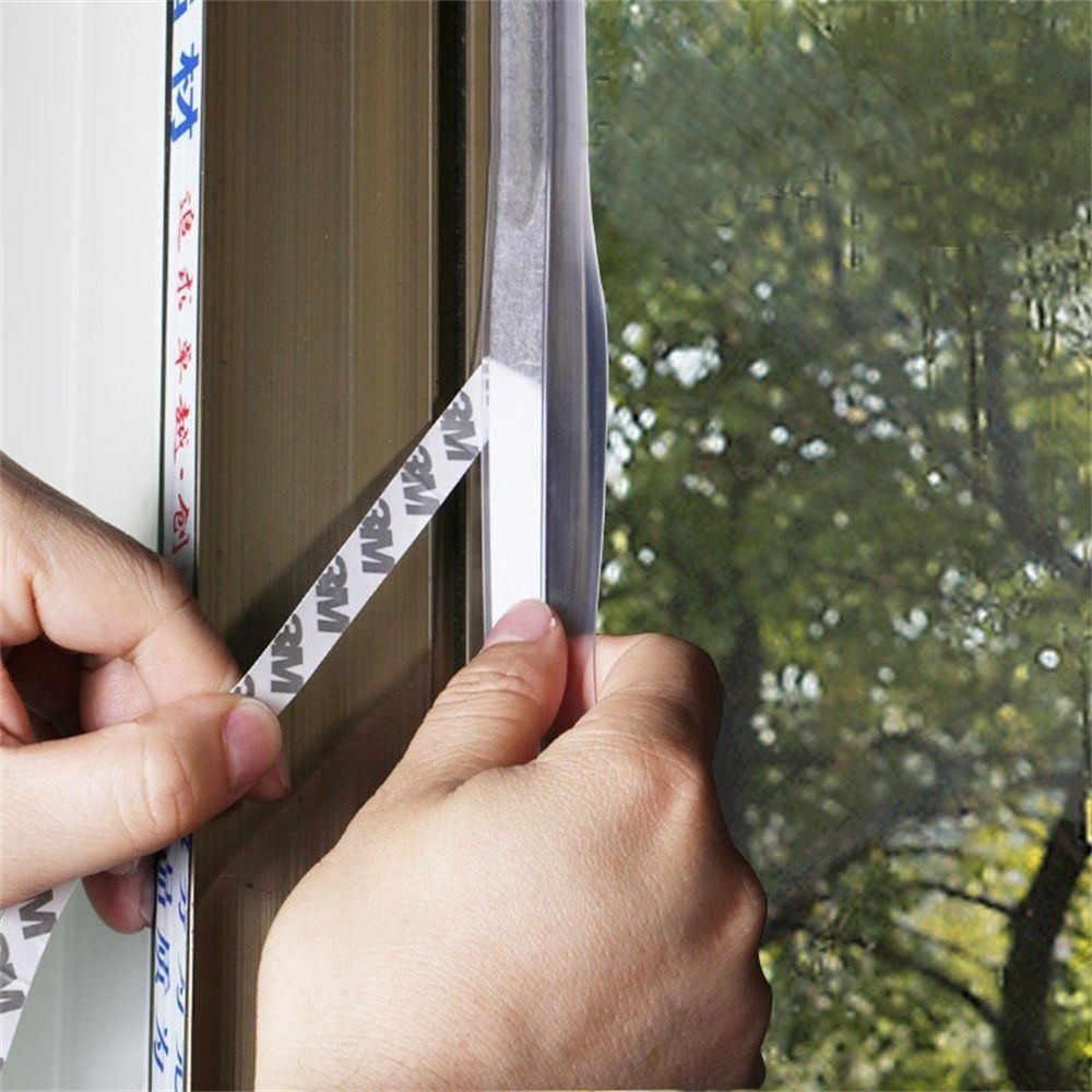 Wielofunkcyjny uszczelniania szkła okno model stali nierdzewnej drzwi uszczelki silikonowe ponad bar przezroczyste 100x2.5x0.5 cm 10.31