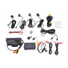 EDFY 12V 4 Parking Sensors LCD Display Camera Video Car Reverse Backup Radar System Kit Buzzer