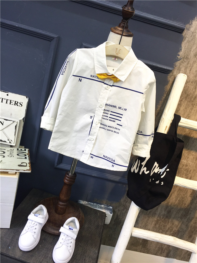 Effizient Einzelhandel Kinderbekleidung Und Kleinen Jungen Tragen Langarm-shirt 2018 Neue Frühling Und Herbst Reine Baumwolle Jungen Hemd Top Heller Glanz