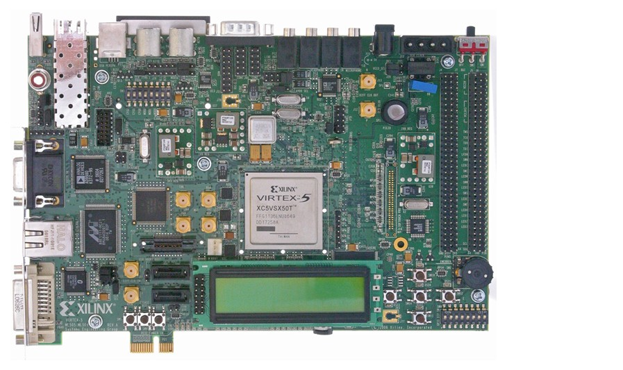 XILINX Virtex-5 Development Board HW-V5-ML506-UNI-G Xtreme DSP GTP PCIe