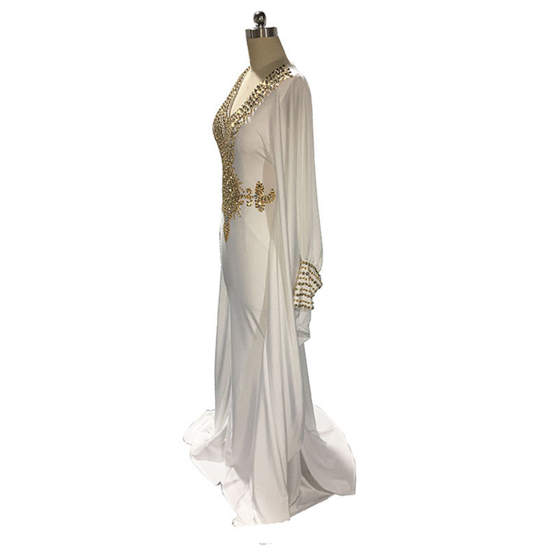 Weddings & Events Lorie Moroccan Kaftan Aarabic Evening Gowns Dresses Dubai Velvet Prom Dress With Gold Lace Green Ral Photo Muslim Abaya Gown Modern Design