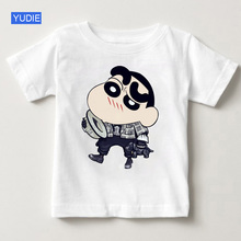 Crayon Shin-chan Clothing Japan Anime Children Short Sleeve T Shirt Shin Summer Shirts White Top Boy Girl Clothes YUDIE